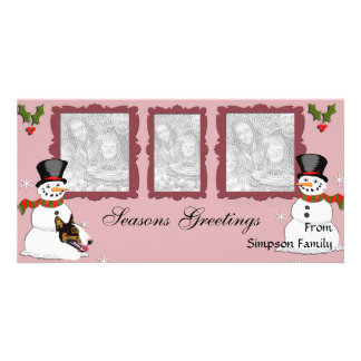 Bull Terrier Christmas cards Photo Card