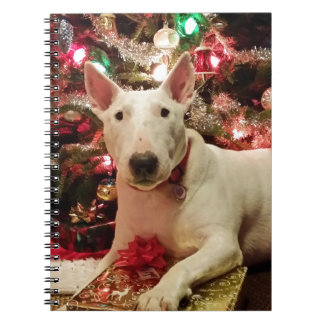 bull terrier christmas notebooks