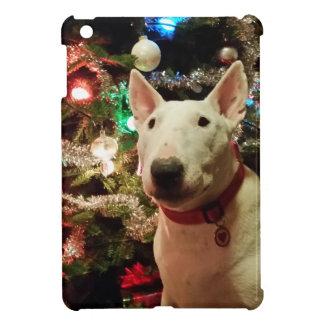 bull terrier Christmas present tree iPad Mini Covers