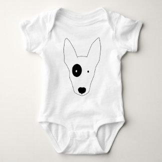 Bull Terrier Dog Baby Bodysuit