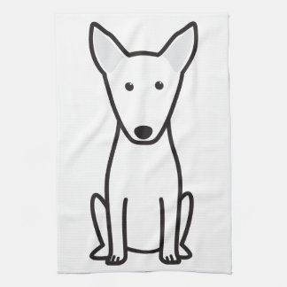 Bull Terrier Dog Cartoon Tea Towel
