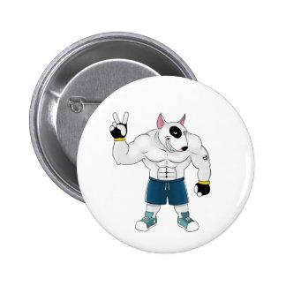 bull terrier dog fight pin