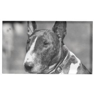 Bull Terrier dog Table Card Holders