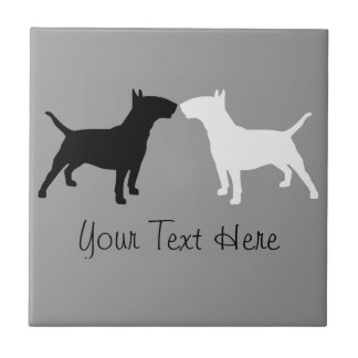 Bull Terrier Double Silhouette Photo Tile