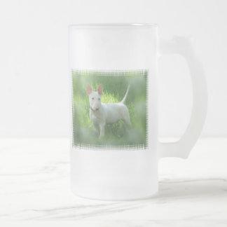 Bull Terrier Frosted Beer Mug