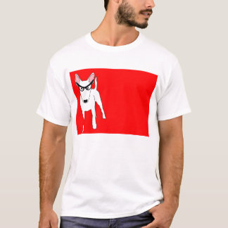 Bull Terrier in Dame Edna Glasses T-Shirt