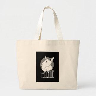 bull terrier large tote bag