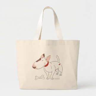 Bull Terrier Large Tote Bag