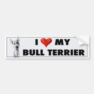 Bull Terrier Love Sticker Bumper Stickers