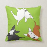 Bull Terrier Memory Pillow Cushions