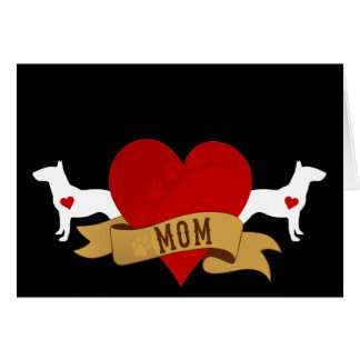 Bull Terrier Mom [Tattoo style] Card