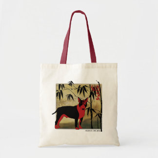 Bull Terrier New Year Tote Bag