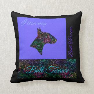 """Bull Terrier pillow """"I love my Bull Terrier"""""""