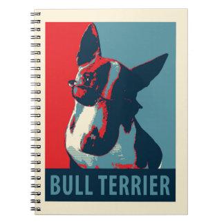 Bull Terrier Political Parody Notebook