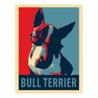 Bull Terrier Political Parody Post Card
