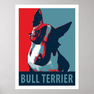 Bull Terrier Political Parody Poster 18x24