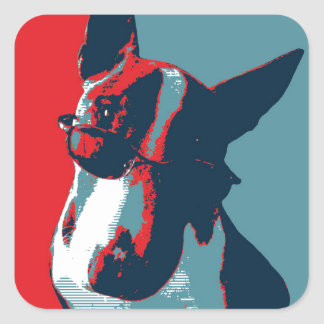 Bull Terrier Political Parody Stickers
