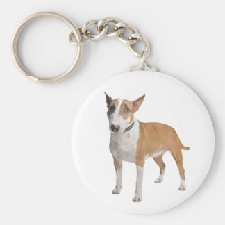 Bull Terrier Puppy Dog Love Keychain