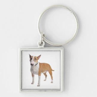 Bull Terrier Puppy Dog Love Keychain