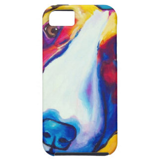 bull terrier red and white 2 case for the iPhone 5
