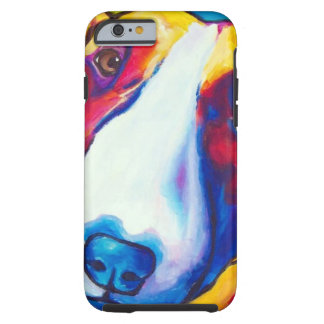 bull terrier red and white 2 tough iPhone 6 case