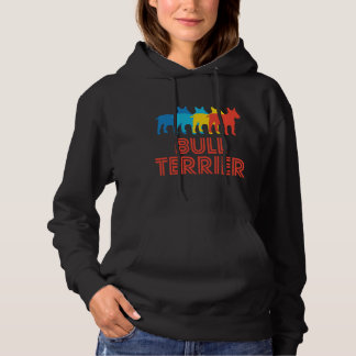 Bull Terrier Retro Pop Art Hoodie