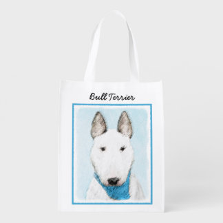 Bull Terrier Reusable Grocery Bag