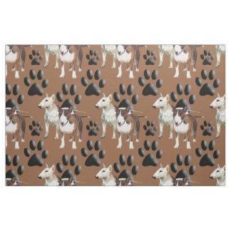 Bull Terrier seamless repeating pattern fabric