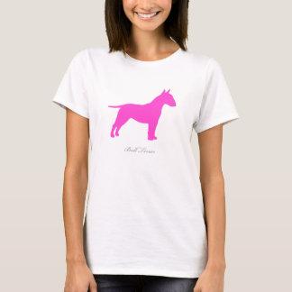 Bull Terrier T-shirt (pink silhouette)
