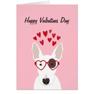 Bull Terrier Valentines Love Card