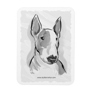 Bull Terrier watercolor painting magnet