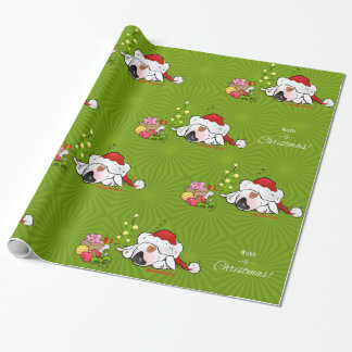 """Bull Terrier Wrapping Paper """"Merry Christmas"""""""