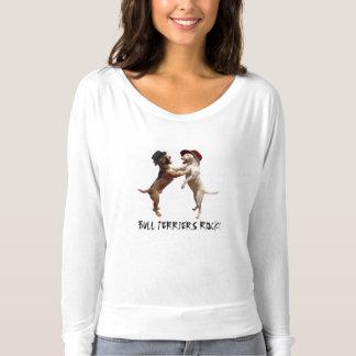 Bull Terriers Rock! Long Sleeve Tee