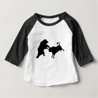 Bull Versus Bear Silhouette Concept Baby T-Shirt