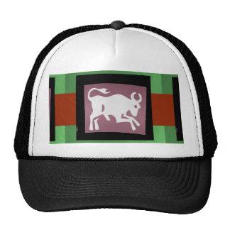 BULL White Green n Black border elegant design Cap