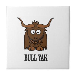 bull yak small square tile