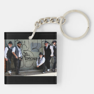 Bulldawg Blues Band Keychain1 Double-Sided Square Acrylic Key Ring