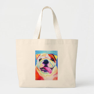 Bulldog #4 jumbo tote bag