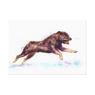 Bulldog  abstract Fantasy Canvas Print