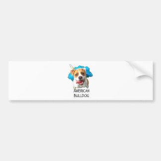 bulldog american bumper sticker