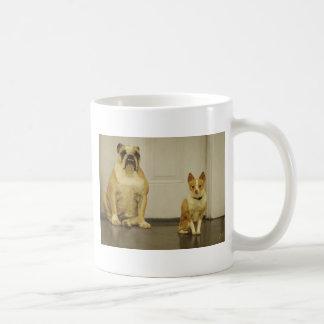 Bulldog and Friend (Sepia) Coffee Mug