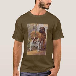 Bulldog and Mastiff  Vintage Unisex T-Shirt