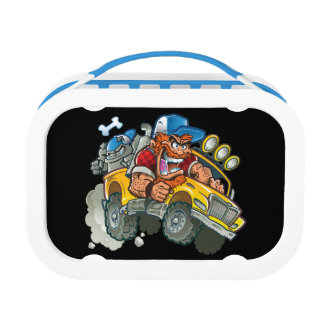Bulldog and Redneck Monster Truck Lunch Box