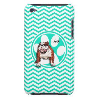 Bulldog Aqua Green Chevron iPod Touch Cover