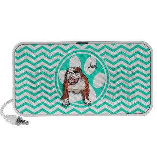 Bulldog Aqua Green Chevron Laptop Speaker