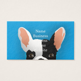 Bulldog art - french bulldog business card