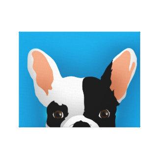 Bulldog art - french bulldog canvas print