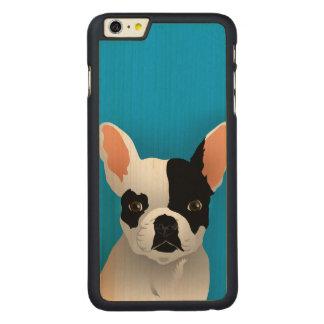 Bulldog art - french bulldog carved maple iPhone 6 plus case