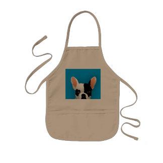 Bulldog art - french bulldog kids apron
