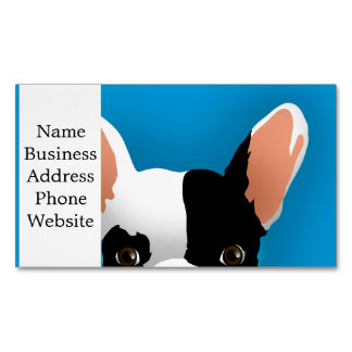 Bulldog art - french bulldog 	Magnetic business card